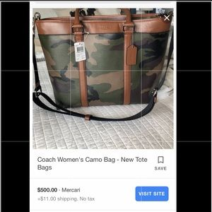 Camouflage Coach Briefcase